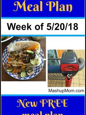 Free ALDI Meal Plan week of 5/20/18 – 5/26/18