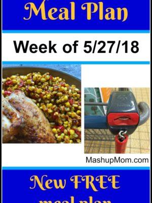Free ALDI Meal Plan week of 5/27/18 – 6/2/18