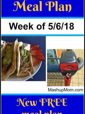 Free ALDI Meal Plan week of 5/6/18 – 5/12/18