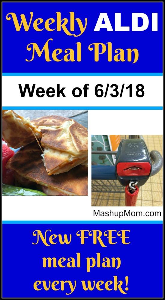 free ALDI meal plan week of 6/3/18