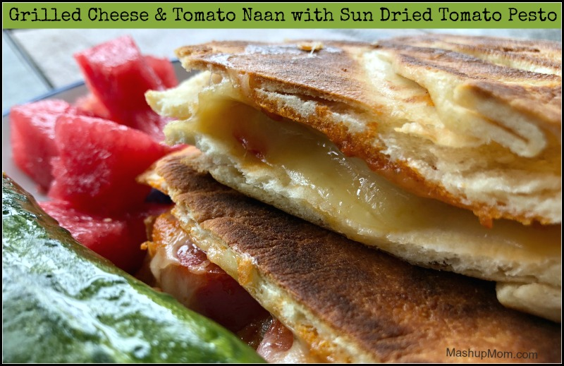 grilled cheese and tomato naan