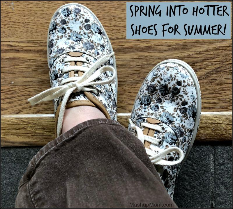 floral canvas Hotter shoes