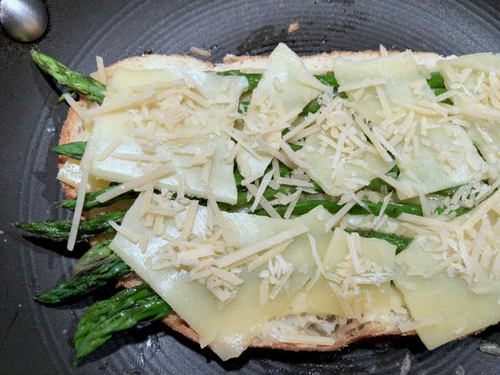Assemble grilled cheese: Try these Roasted Asparagus Grilled Cheese Sandwiches the next time you pick up some fresh asparagus! In this Meatless Monday grown-up grilled cheese recipe, Havarti pairs so well with asparagus, while Parmesan adds just a bit of a salty kick and Dijon a little tang that takes these sandwiches up another notch.