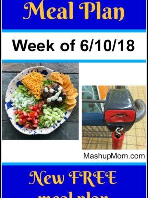 Free ALDI Meal Plan week of 6/10/18 – 6/16/18