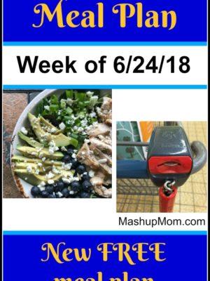 Free ALDI Meal Plan week of 6/24/18 – 6/30/18