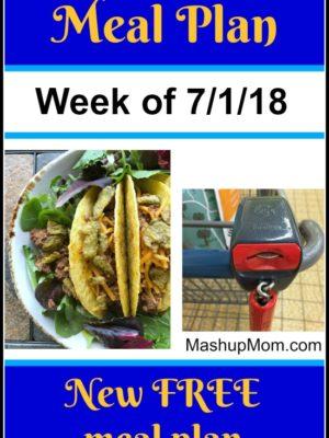 Free ALDI Meal Plan week of 7/1/18 – 7/7/18