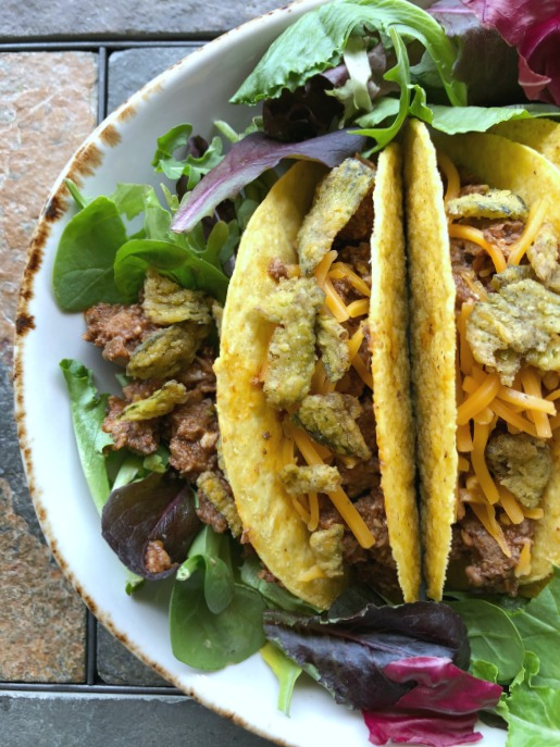 tacos with ground beef and mushrooms
