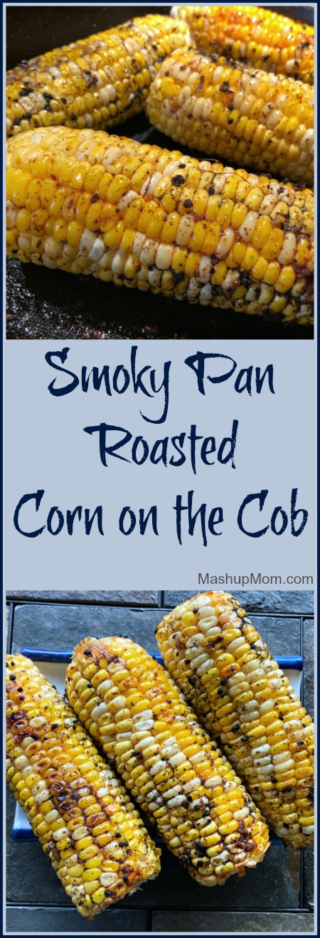 pan roasted corn cobs