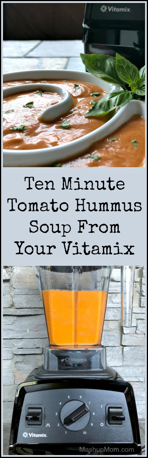 ten minute tomato soup in a vitamix