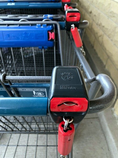 unlocked ALDI cart