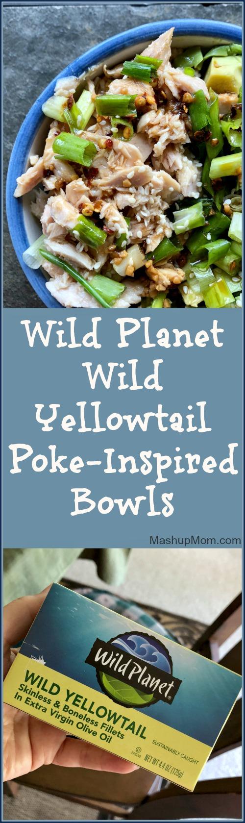 wild yellowtail poke bowls