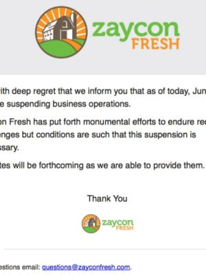Zaycon Fresh is out of business — The Update