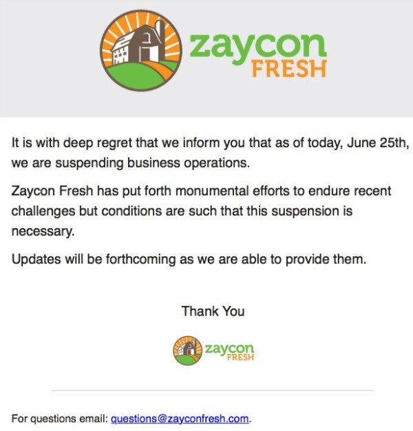 zaycon out of business