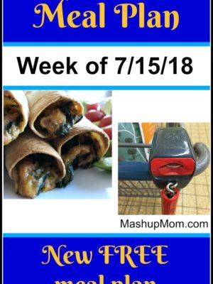 Free ALDI Meal Plan week of 7/15/18 – 7/21/18