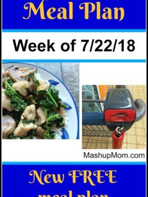 Free ALDI Meal Plan week of 7/22/18 – 7/28/18