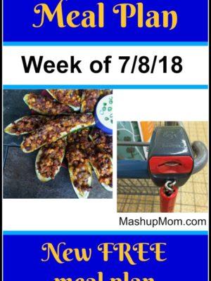 Free ALDI Meal Plan week of 7/8/18 – 7/14/18