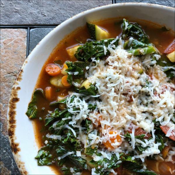 bowl of pizza soup