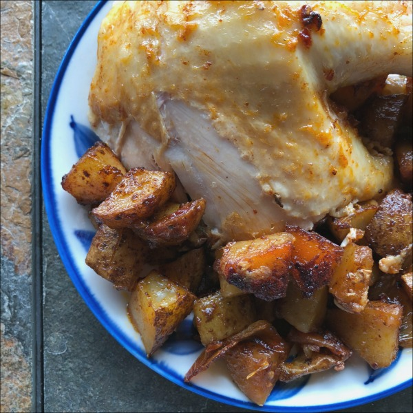 chipotle chicken and potatoes