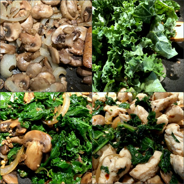 steps to chicken kale stir fry