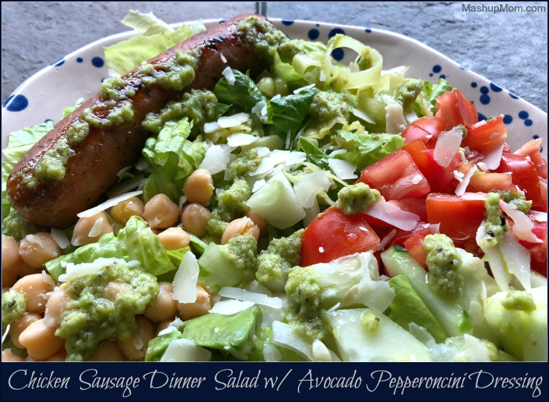 chicken sausage dinner salad
