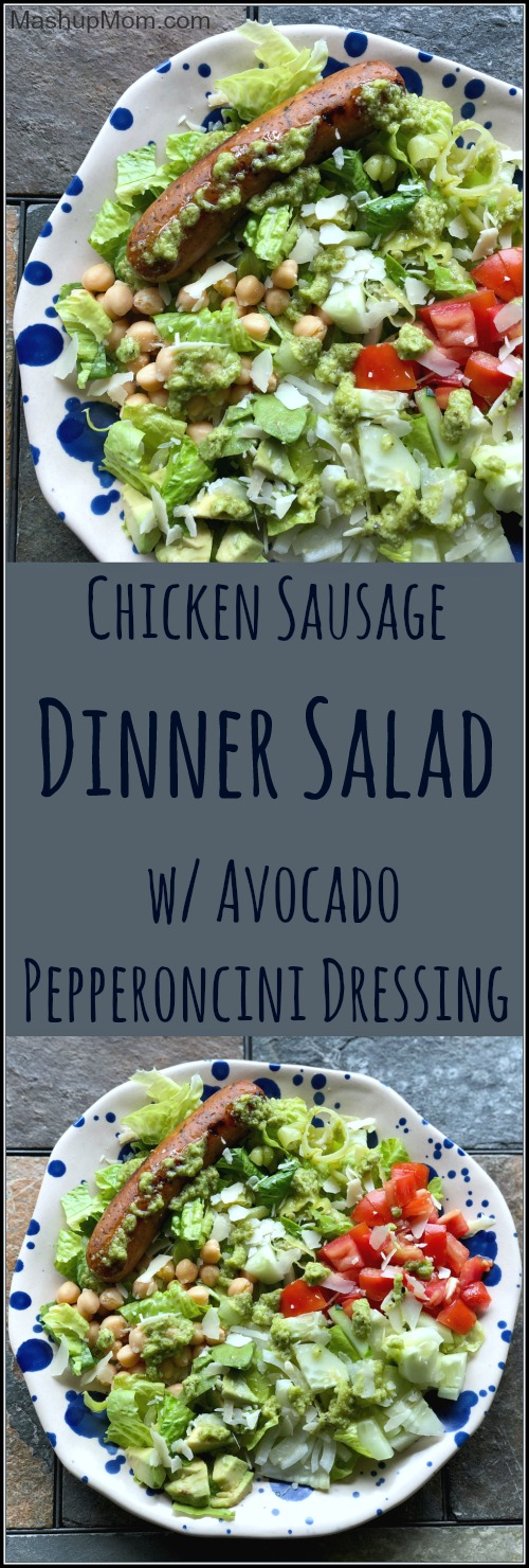 chicken sausage salad with pepperoncini dressing