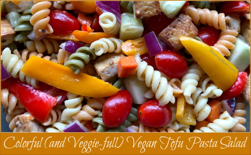 vegan tofu pasta salad