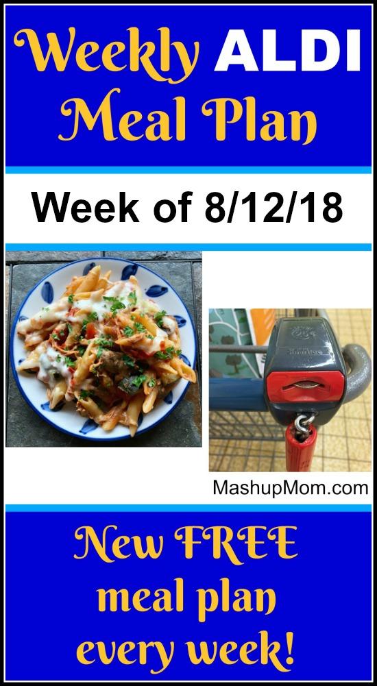 Free Aldi Meal Plan Week Of 81218 81818