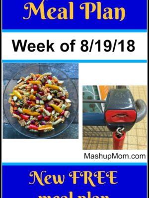 Free ALDI Meal Plan week of 8/19/18 – 8/25/18