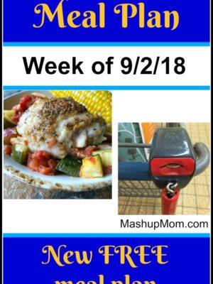 Free ALDI Meal Plan week of 9/2/18 – 9/8/18