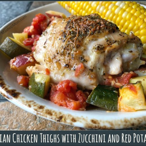 Italian Chicken Thighs With Zucchini And Red Potatoes
