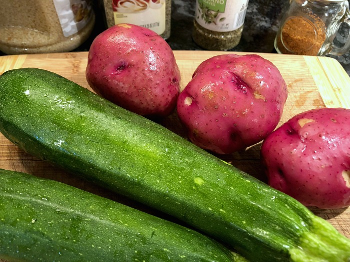 zucchini and red potatoes