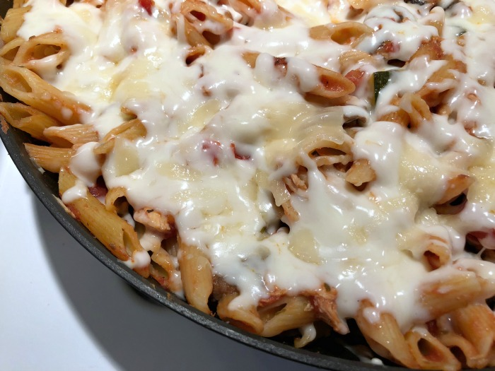 cheesy pasta skillet