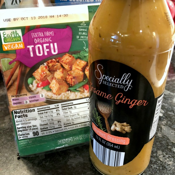 aldi tofu and sesame ginger dressing