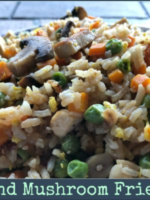 Vegetarian Tofu and Mushroom Fried Rice