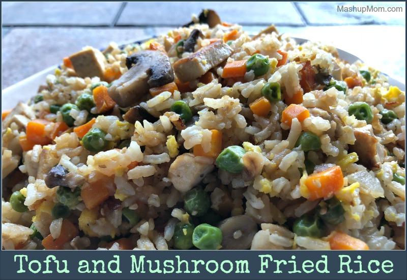 tofu and mushroom fried rice