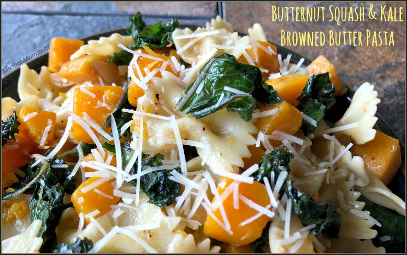 butternut squash + kale browned butter pasta