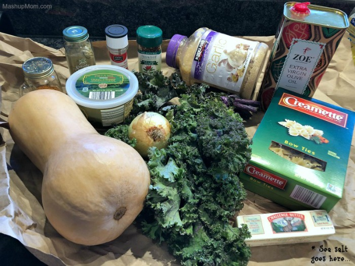 butternut squash pasta ingredients