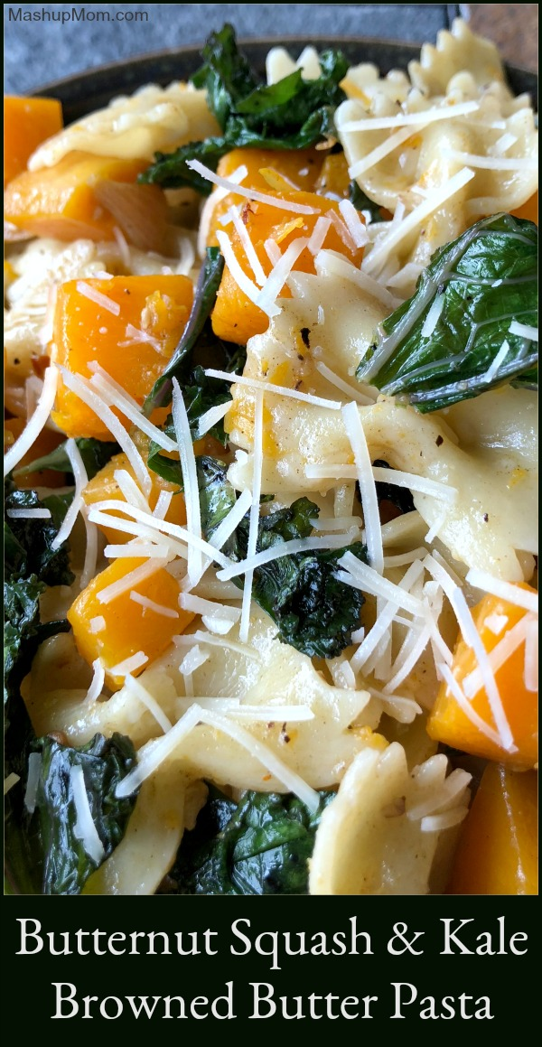 pasta with kale and butternut squash