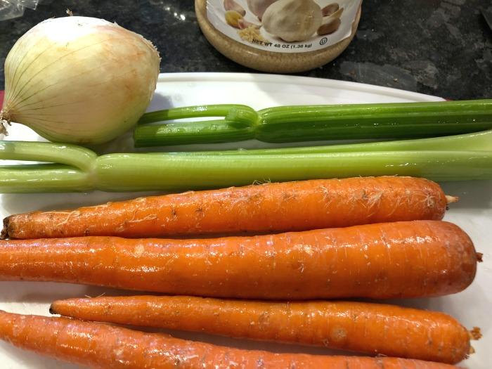 carrots celery onion