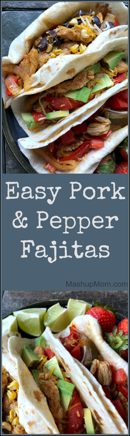 pork fajitas with bell peppers