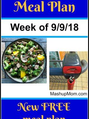 Free ALDI Meal Plan week of 9/9/18 – 9/15/18