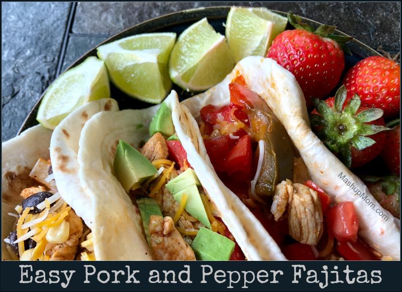 pork and pepper fajitas