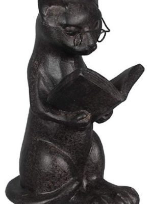 Quirky Finds 9/23/18 — Reading Cat Figurine