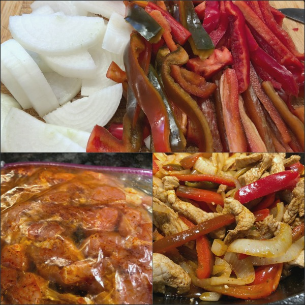 steps to easy pork fajitas