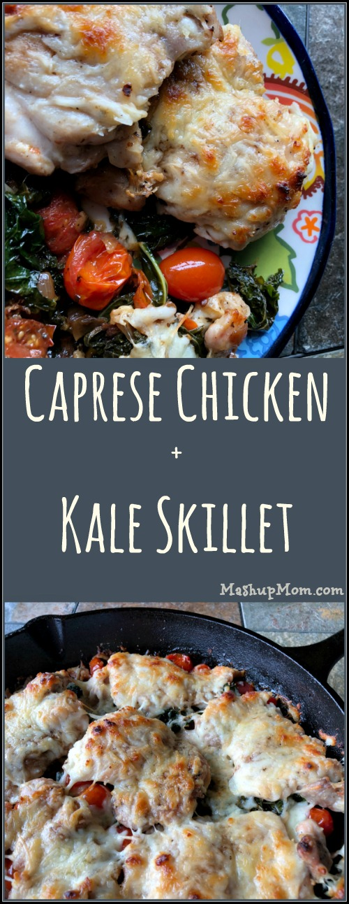 Caprese chicken + kale skillet recipe