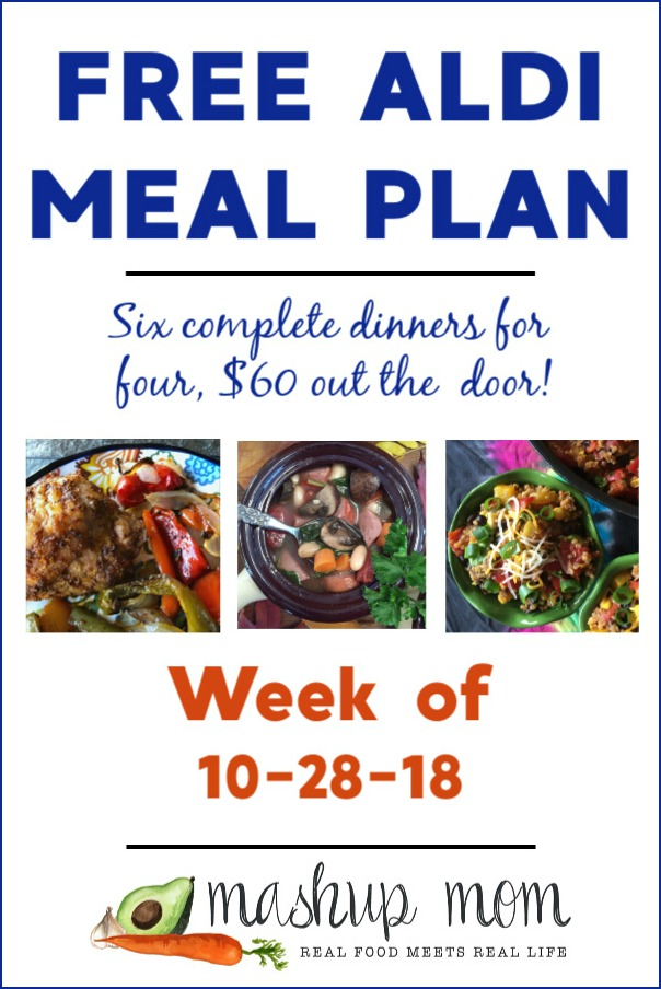 free aldi meal plan week of 10-28-18