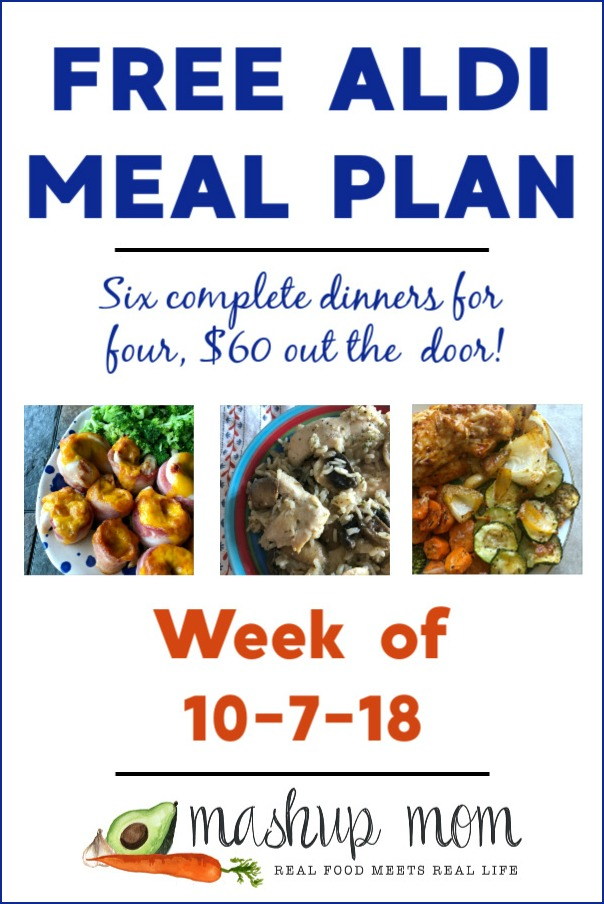 printable ALDI meal plan