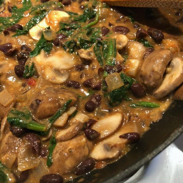 mushroom burrito filling