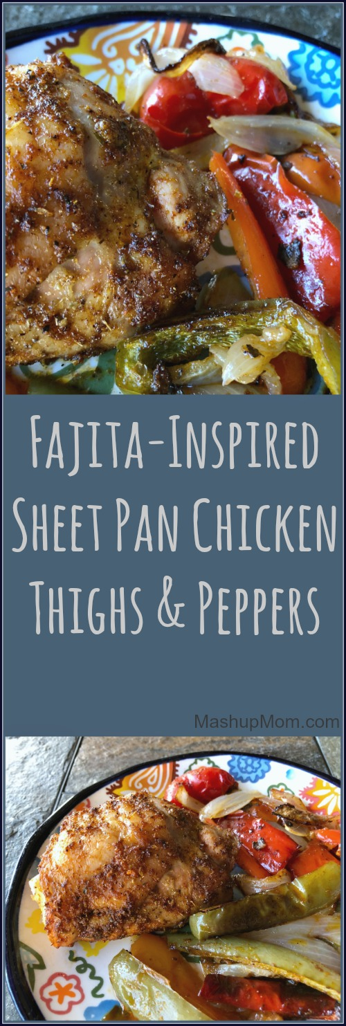 fajita sheet pan chicken thighs and peppers