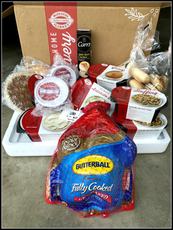 Boston Market Thanksgiving home delivery box